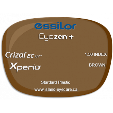 Essilor Eyezen 1.50 Crizal EC UV Xperio - Brown