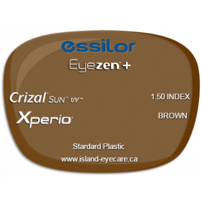 Essilor Eyezen 1.50 Crizal Sun UV Xperio - Brown