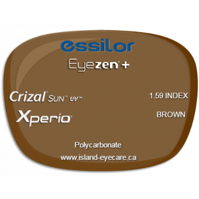 Essilor Eyezen 1.59 Crizal Sun UV Xperio - Brown