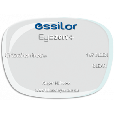Essilor Eyezen 1.67 Crizal UV with Optifog