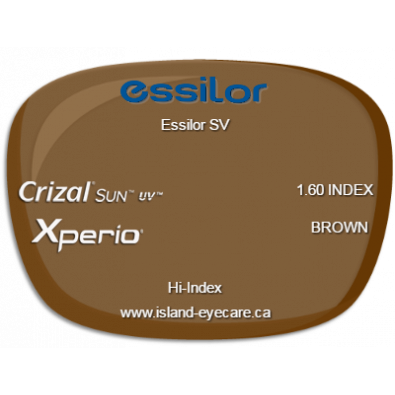 Essilor SV 1.60 Crizal Sun UV Xperio - Brown