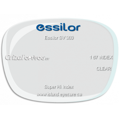 Essilor SV 360 1.67 Crizal UV with Optifog
