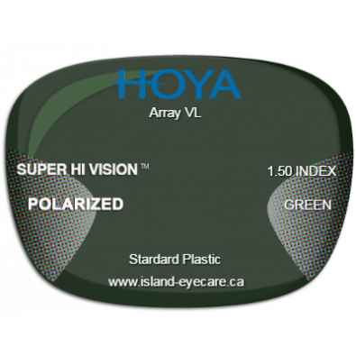 Hoya Array VL 1.50 Super Hi Vision Hoya Polarized - Green