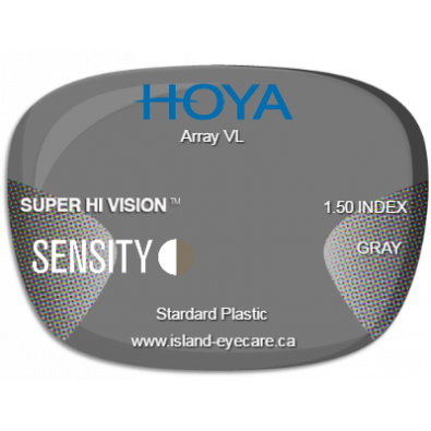 Hoya Array VL 1.50 Super Hi Vision Sensity - Gray