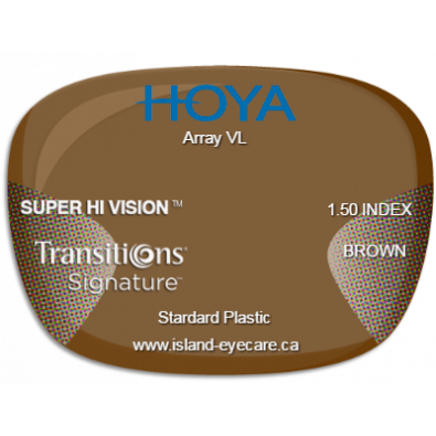 Hoya Array VL 1.50 Super Hi Vision Transitions Signature - Brown
