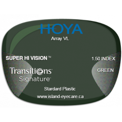 Hoya Array VL 1.50 Super Hi Vision Transitions Signature - Green