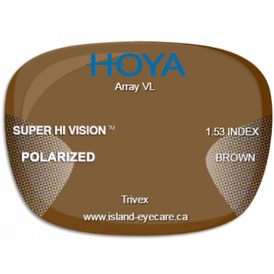 Hoya Array VL Trivex Super Hi Vision Hoya Polarized - Brown