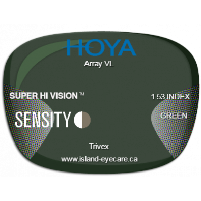 Hoya Array VL Trivex Super Hi Vision Sensity - Green