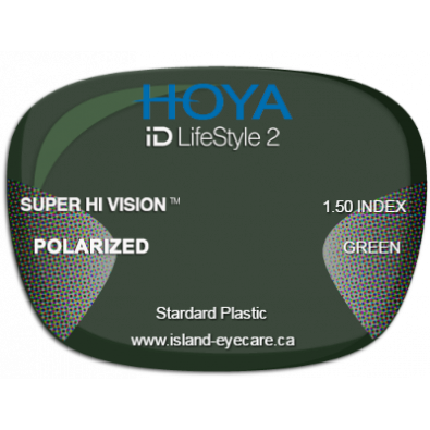 Hoya iD LifeStyle2 1.50 Super Hi Vision Hoya Polarized - Green