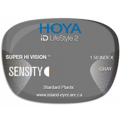Hoya iD LifeStyle2 1.50 Super Hi Vision Sensity - Gray