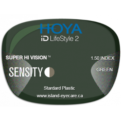 Hoya iD LifeStyle2 1.50 Super Hi Vision Sensity - Green