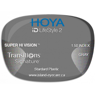 Hoya iD LifeStyle2 1.50 Super Hi Vision Transitions Signature - Gray
