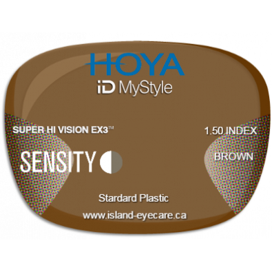 Hoya iD MyStyle 1.50 Super Hi Vision EX3 Sensity - Brown