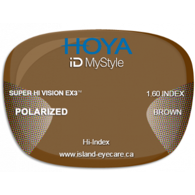 Hoya iD MyStyle 1.60 Super Hi Vision EX3 Hoya Polarized - Brown