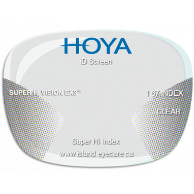 Hoya iD Screen 1.67 Super Hi Vision EX3