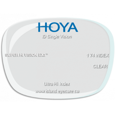 Hoya iD Single Vision 1.74 Super Hi Vision EX3