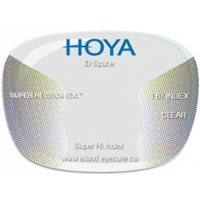 Hoya iD Space 1.67 Super Hi Vision EX3