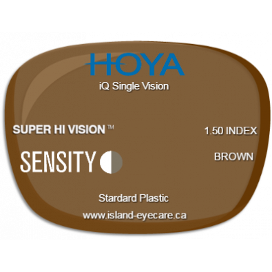 Hoya iQ Single Vision 1.50 Super Hi Vision Sensity - Brown