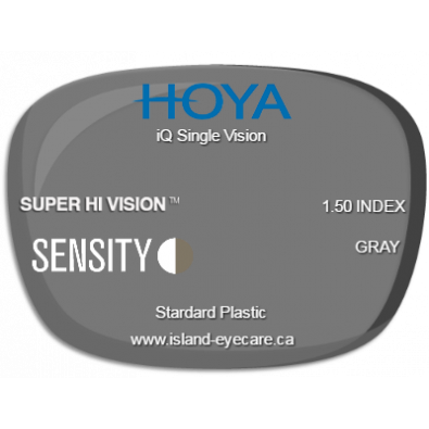 Hoya iQ Single Vision 1.50 Super Hi Vision Sensity - Gray