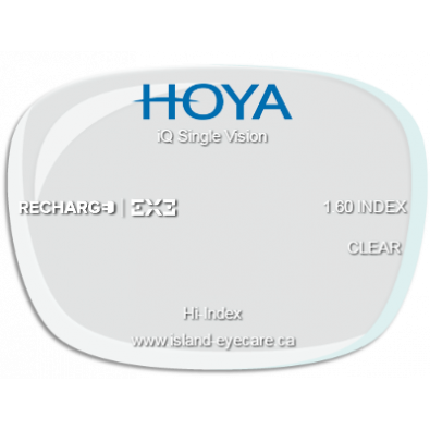Hoya iQ Single Vision 1.60 Recharge