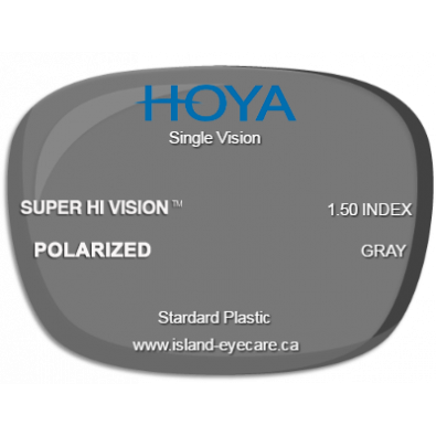 Hoya Single Vision 1.50 Super Hi Vision Hoya Polarized - Gray