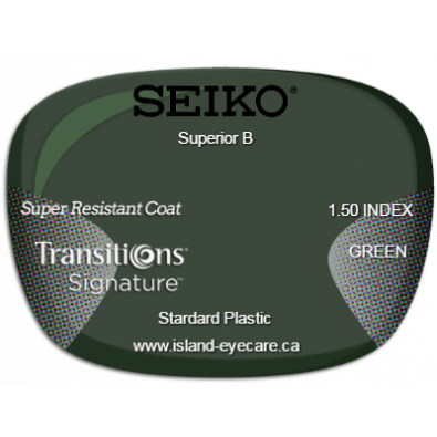 Seiko Superior B 1.50 Super Resistant Coat Transitions Signature - Green