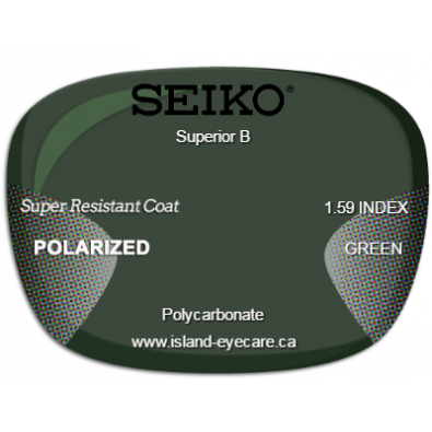 Seiko Superior B 1.59 Super Resistant Coat Seiko Polarized - Green