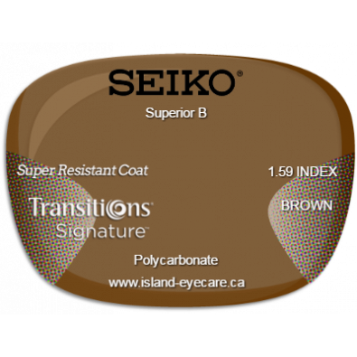 Seiko Superior B 1.59 Super Resistant Coat Transitions Signature - Brown