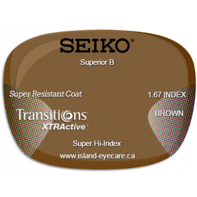 Seiko Superior B 1.67 Super Resistant Coat Transitions XTRActive - Brown