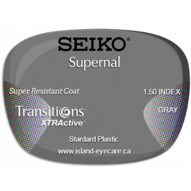 Seiko Supernal 1.50 Super Resistant Coat Transitions XTRActive - Gray