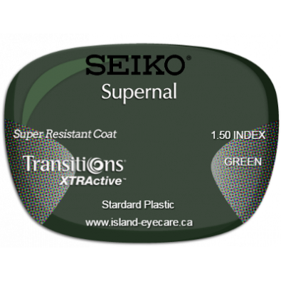 Seiko Supernal 1.50 Super Resistant Coat Transitions XTRActive - Green