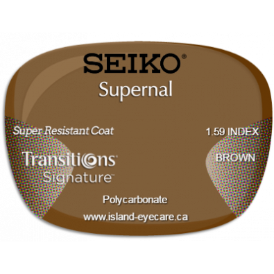 Seiko Supernal 1.59 Super Resistant Coat Transitions Signature - Brown