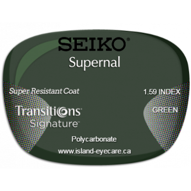 Seiko Supernal 1.59 Super Resistant Coat Transitions Signature - Green