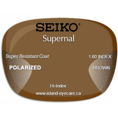 Seiko Supernal 1.60 Super Resistant Coat Seiko Polarized - Brown