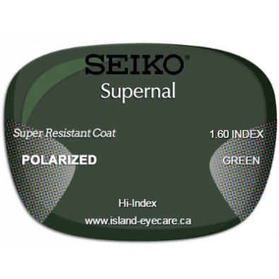 Seiko Supernal 1.60 Super Resistant Coat Seiko Polarized - Green