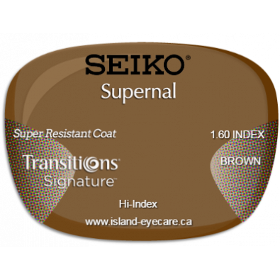 Seiko Supernal 1.60 Super Resistant Coat Transitions Signature - Brown