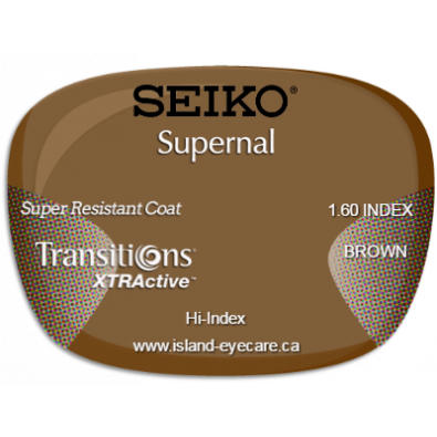 Seiko Supernal 1.60 Super Resistant Coat Transitions XTRActive - Brown
