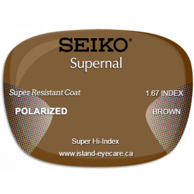 Seiko Supernal 1.67 Super Resistant Coat Seiko Polarized - Brown