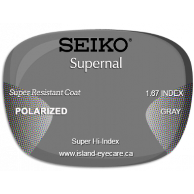 Seiko Supernal 1.67 Super Resistant Coat Seiko Polarized - Gray