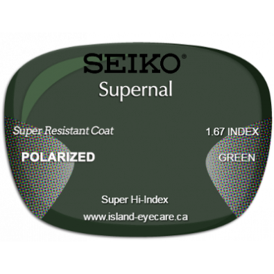 Seiko Supernal 1.67 Super Resistant Coat Seiko Polarized - Green