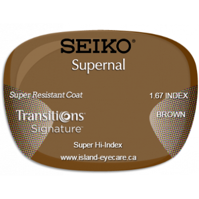 Seiko Supernal 1.67 Super Resistant Coat Transitions Signature - Brown