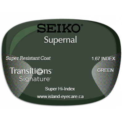 Seiko Supernal 1.67 Super Resistant Coat Transitions Signature - Green
