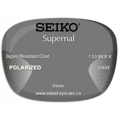 Seiko Supernal Trivex Super Resistant Coat Seiko Polarized - Gray