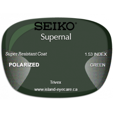 Seiko Supernal Trivex Super Resistant Coat Seiko Polarized - Green