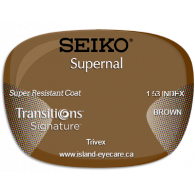 Seiko Supernal Trivex Super Resistant Coat Transitions Signature - Brown