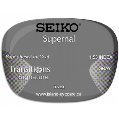 Seiko Supernal Trivex Super Resistant Coat Transitions Signature - Gray