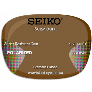 Seiko Surmount 1.50 Super Resistant Coat Seiko Polarized - Brown