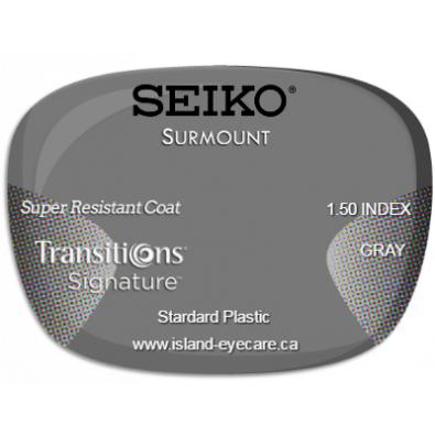Seiko Surmount 1.50 Super Resistant Coat Transitions Signature - Gray