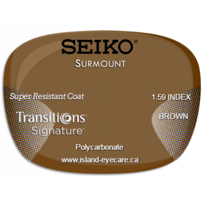 Seiko Surmount 1.59 Super Resistant Coat Transitions Signature - Brown