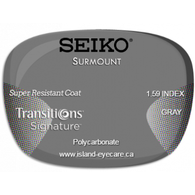 Seiko Surmount 1.59 Super Resistant Coat Transitions Signature - Gray